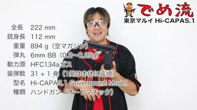 画像1: 【でめ流】東京マルイ GBB ハイキャパ5.1 (1)